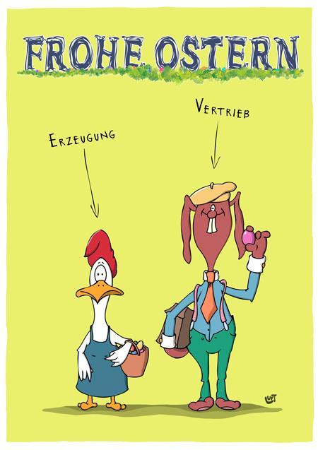 Frohe Ostern I Cartoonalarm